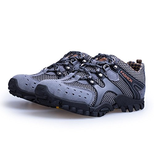Autumn Melody Outdoor Fashion Casual Suede Breathable Mesh Men Hiking Shoes