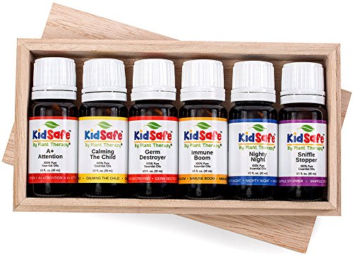 KidSafe Starter 6 Set- Includes 10 ml Undiluted Synergies of: A+ Attention, Calming The Child, Germ Destroyer, Immune Boom, Nighty Night and Sniffle Stopper