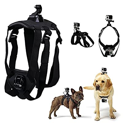 The Best Fetch Dog Harness for GoPro Hero 4 Silver Hero 3 3+ 2 SJ4000 SJ5000 SJ6000 XiaoYi HONGDAK Pet Chest Strap Mount Sports Camera Accessories Bundle