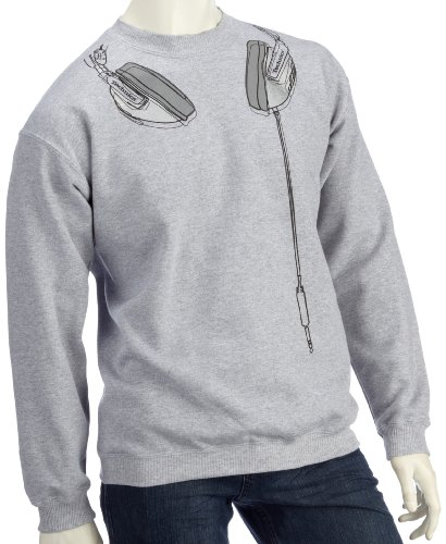 DMC Technics Headphones Grey Mens Sweatshirt Small