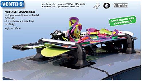 Gev a8940 porta sci magnetico vento 5 per 4 5 paia di sci - Porta snowboard magnetico ...