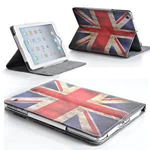 Retro Vintage Union Jack Leather Stand Case Cover for Apple iPad Mini with Magnetic Sleep Wake Sensor + Free Screen Protector