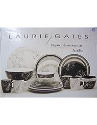 Laurie Gates 53051 16-Piece Signature Living Amelie Dinnerware Set