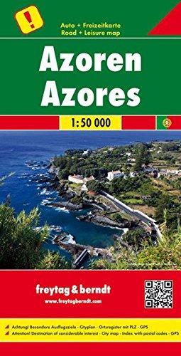 Azores, mapa de carreteras. Escala 1:50.000. Freytag & Berndt. (Auto karte)