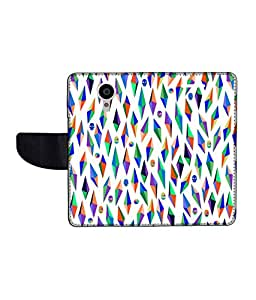 KolorEdge Printed Flip Cover For Gionee Elife E7 Multicolor - (55KeMLogo11667GioneeE7)