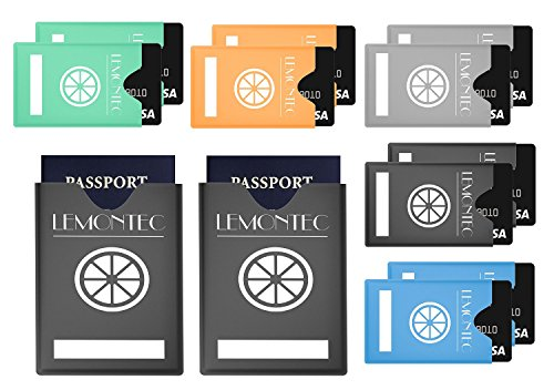 RFID Blocking Sleeves (10 Credit Card & 2 Passport Protectors) Top Identity Theft Protection Travel Case Set. Fits in Your Wallet or Purse For Easy Use. Shields Radio Frequency ID (Radio Frequency Protection Sleeve compare prices)