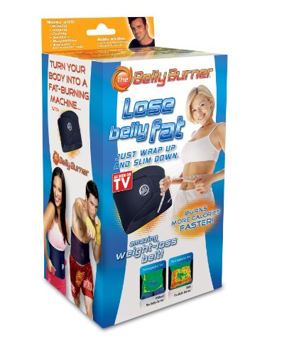 Belly Burner Weight Loss Belt, Black, One Size Fits All Up To 50-Inches