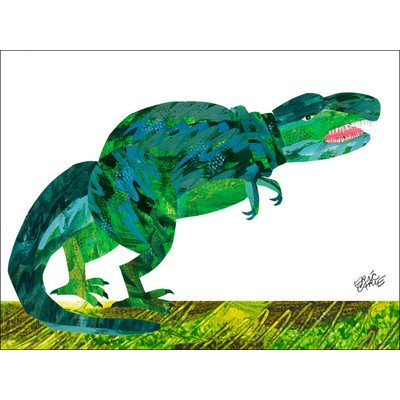 "Oopsy Daisy NI2549 Eric Carle's Dinosaur Canvas Wall Art, 24"" by 18"" - 1"