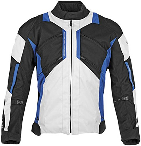 Speed and Strength Chain Reaction Men's Textile Road Race Motorcycle Jacket - Black Blue / Large