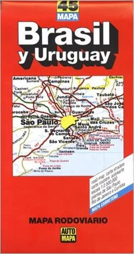 Brasil & Uruguay Road Map (Buenos Aires to Rio de Janeiro) (Spanish Edition)