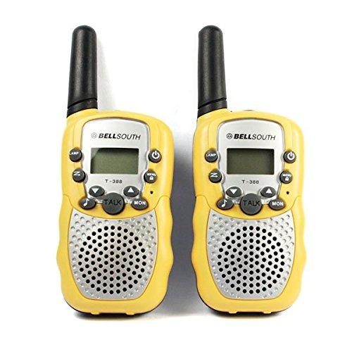 Hotkey® 2pcs Portable Wireless Walkie-talkie Set Eight Channel 2 Way Radio Intercom 5KM Travel Yellow