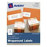 Avery Textured Wraparound Labels, White, 7.85 x 1.75 Inches, Pack of 15 (80506)
