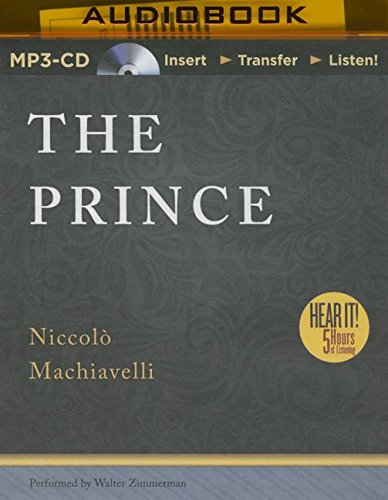 an examination of niccolo machiavelli and his novel the prince Be like the fox has 120 be like the fox: machiavelli in his world is an and any careful examination of his teachings will reveal that he isn't.