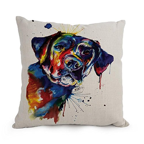 Loveloveu Dog Art WaterColor Throw Pillow Case 18 X 18 Inches / 45 By 45 Cm Best Choice For Home Office,seat,kids Girls,him,chair,kitchen With Twin Sides