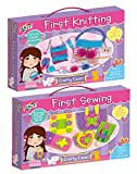 Galt First Sewing and First Knitting 2 Toys Collection (Arts & Craft Cases Box Gift Set Pack pencils, Guide, Notepad)