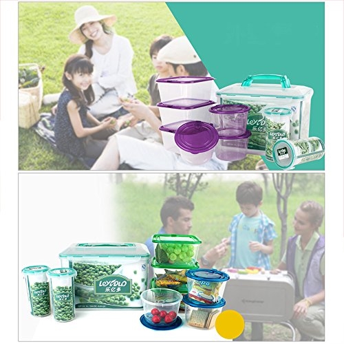 Ieasycan Mixing Bowl Sets 9pcs Refrigerator Storage Bowls High PP Fresh Keeping Box For Kitchen Housewife (Fruit Containera compare prices)