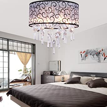 sale lightinthebox modern elegant crystal chandelier flush mount