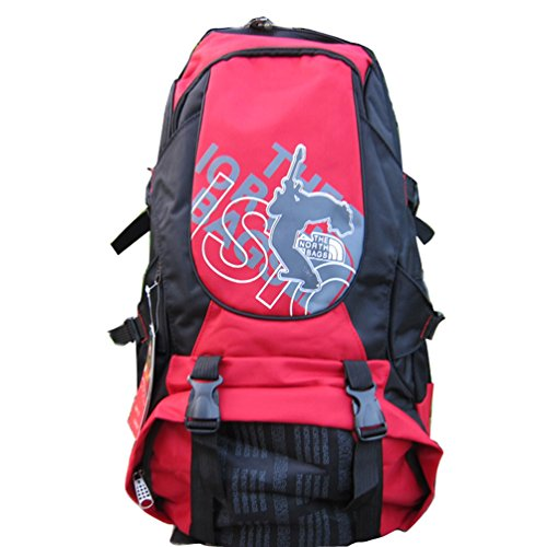 Zerd Outdoor 900D Nylon Travel Hiking Daypack Student Backpack Red front-481575