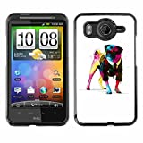 Shell-Star ( Cool Awsome Gentleman Pug ) Snap On Hard Protective Case For HTC Desire HD / Inspire 4G