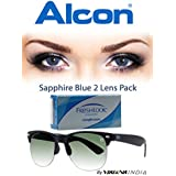 Alcon Freshlook COLORS Monthly All Power Sapphire Blue Color Contact Lenses With Free UV Sunglass (2 Lens Pack...