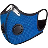 Dust Mask Activated Carbon, [N95 Filter Standard] Air Filter Respirator Dustproof Masks for Allergens, Pollution, Particle, Pollen, Smoke Woodworking Cycling Running (1 + Extra 5 Filters, Blue) (Color: Blue, Tamaño: 1 + Extra 5 Filters)