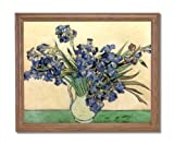 Vincent Van Gogh Irises In Vase Flower Home Decor Wall Picture Oak Framed Art Print