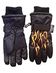 N'ice Caps Boys Ski Glove with Flame Print