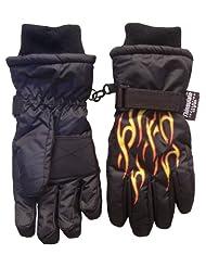 Ice Caps TM Boys Ski Glove With Flame Print