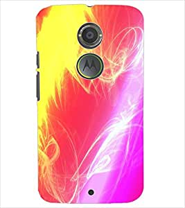 PrintDhaba COLORFUL PATTERN D-6144 Back Case Cover for MOTOROLA MOTO X2 (Multi-Coloured)