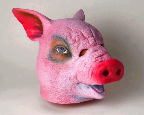 Deluxe Latex Animal Mask - Pig