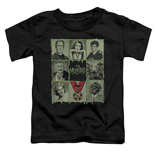 The Munsters Monster Family Sitcom TV Series Retro Blocks Little Boys T-Shirt (Grandpa Munsters)