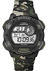 Timex T49976 Expedition Base Shock Chrono Alarm Timer Watch - Camo