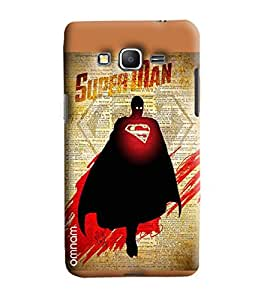 Omnam Super Man Shadow Printed Designer Back Cover Case For Samsung Galaxy Grand Prime