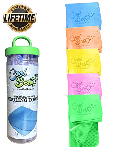 Cooling Workout Towel / Tennis / Golf / Biking - Best For Any Sport Activities Perfect For Fitness & Gym & Athletes Cold Towel - Chilly Pad By Cool Besty - Instant Cooling Snap Towel - GREEN