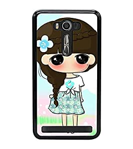 Fuson Premium 2D Back Case Cover Cute Baby with big eyes With Multi Background Degined For Asus Zenfone Selfie::Asus Zenfone Selfie ZD551KL