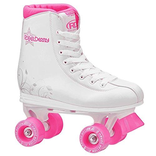 Roller Derby U324G-02 Girls Roller Star 350 Quad Skate, Size 2, White/Pink (Quad Roller Skating compare prices)