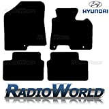 Hyundai i30 2012 - On Tailored Black Car Floor Mats Carpets 4pc Set With Clips