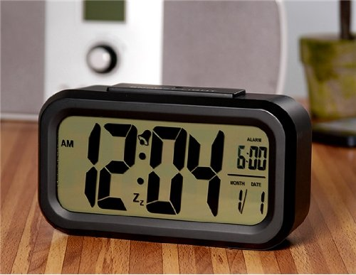 Led Screen Alarm Clock With Night Vision (Black)(Shipping From China)