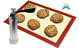Cookie Press by Kichon - 26 piece kit with Bonus Silicone Baking Mat