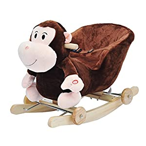 homcom children rocking jolly ride animal toys