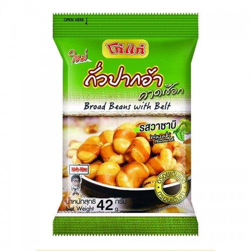 [Koh-kae Broad Beans with Belt Wasabi flavor 42 G X pack 6] (Mr Gum Costume)