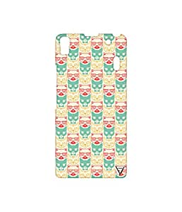 Vogueshell Cat Faces Printed Symmetry PRO Series Hard Back Case for Lenovo A7000