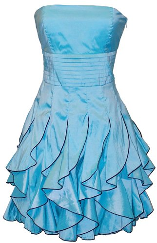 Strapless Ruffle Mini Dress Prom Party Formal Gown