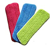 Reveal Mop Cleaning Pad Fit All Spray Mops & Reveal Mops Washable 16.5*5.11 Inches (16*5.5inch, 3PCS)