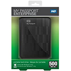 WD My Passport Enterprise 500GB Secure Portable Corporate Environment with Windows To Go