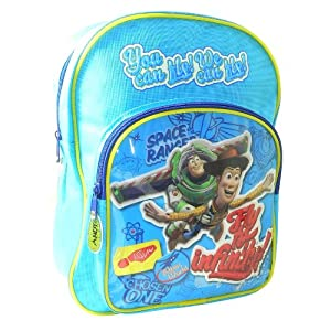 DISNEY TOY STORY BUZZ WOODY KIDS SCHOOL BACKPACK RUCKSACK BAG FRONT POCKET NEW