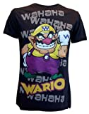 Coole-Fun-T-Shirts T-Shirt Wario Super Mario Nintendo Wii black Size:XL