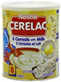 Nestle Cerelac 3 Cereals With Milk, 400 Gram Can (Pack of 4)