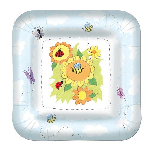Garden Plates (square-shaped)    (8/Pkg)