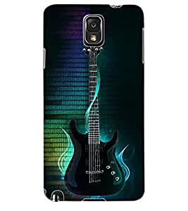 Colourcraft Guitar Back Case Cover For Samsung Galaxy Note 3